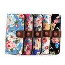 iphone6 ケース 花柄 花 AL605 手帳型ケース 手帳バラ はながらカードホルダー iphone6用ケース カバー ボタニカル柄PU レザーケース カード収納 横開きフリップケースカワイイ ブランド アイフォン6 アイホン6