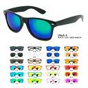 全80色 ウェリントン型 ミラー サングラス 伊達眼鏡 U56 メンズ レディース UVカット