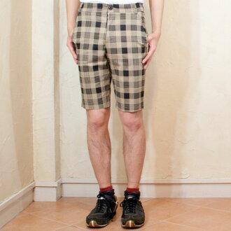Men's check pattern shorts