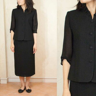 Product made in summer black formal Yonezawa textile suit Japan 5052