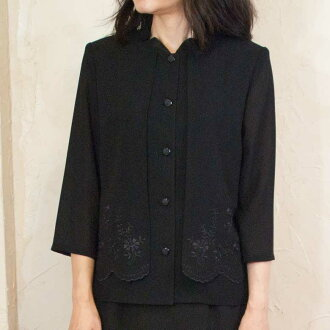 Product made in summer black formal wearing clothes one over another-like overYork blouse Japan 8025