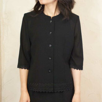 Product made in summer black formal hem race blouse Japan 8160
