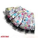 ショッピングキッズ 水着 女の子 LIVE ACDCスカート ダンス 衣装 ヒップホップ ガールズ ダンス衣装 原宿 原宿系 ファッション 派手カワ 個性的 かわいい キッズ 大人 コスプレ ミニスカート ウエストゴム カラフル 総柄 ボリューム ACDC RAG