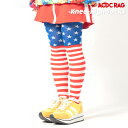 ショッピングニーハイ USA ニーハイ ソックス 靴下 原宿系 ファッション レディース 服 個性的 派手カワ ポップ デコラ カラフル 国旗 レッド ACDCRAG[メール便可]