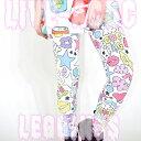 LIVE ACDCレギンス レギンス メンズ レディース キッズ 10分丈 パンツ 柄 総柄 スポーツ ダンス 衣装 原宿系 ファッション 派手カワ ゆめかわいい 星柄 個性派 個性的