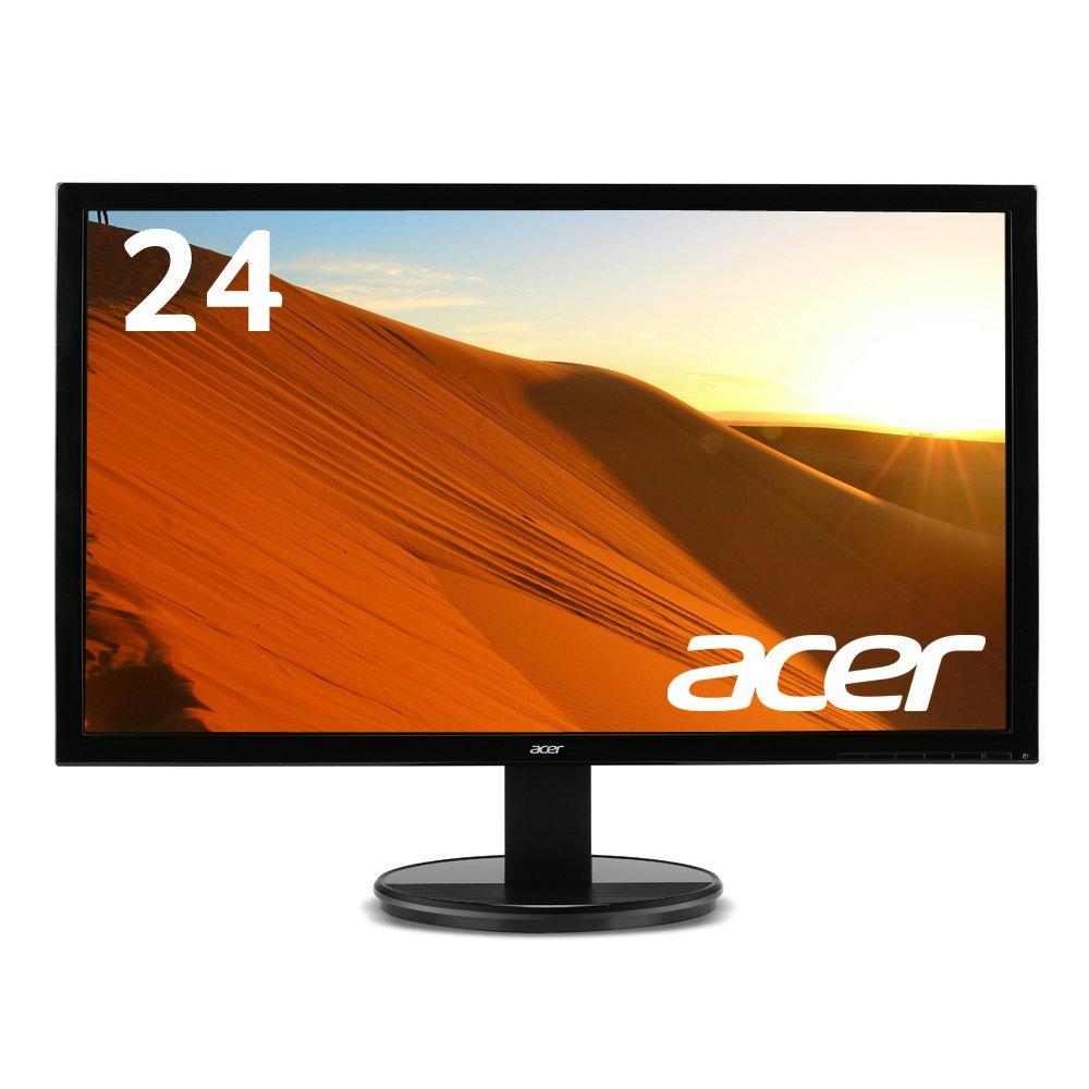 【当店売上ベスト3!】Acer パソコン(PC)モニター K242HLbid 24インチ/フルHD/5ms/HDMI端子対応/ゲーム用にもオススメ!(新品)