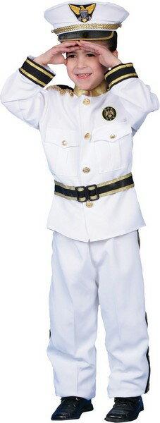 水兵 船員 海軍軍人 海兵隊員 セーラー服 ネイビー 将校デラックス 子ども用コスチューム:アカムス楽天市場店