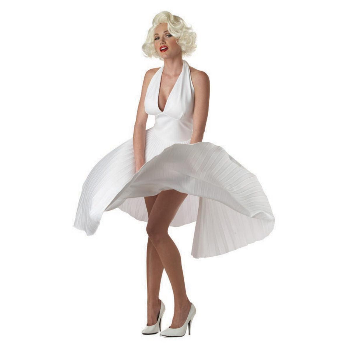 ハロウィン マリリンモンロー コスチューム ドレス コスプレ 衣装 大人 女性 セクシー ホワイトドレス 芸能人 有名人 海外スター 仮装
