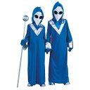 エイリアン 宇宙人 グレイ グリーン 子供用 コスプレ 衣装・コスチューム