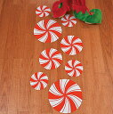 クリスマス ペパーミント キャンディー フロアー 床 デコレーション 飾り ホリデー