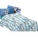 アナと雪の女王 オラフ 雪だるま作ろう ツイン サイズ マイクロファイバー シーツ3点セット Frozen ディズニー グッズ