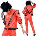 ハロウィン 芸能人 芸人 タレント 歌手マイケル 衣装 スリラー デラックス 大人用 コスチューム