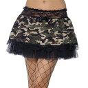 迷彩 ミリタリー チュチュ スカート 迷彩柄チュチュ 大人用スカート ペチコート ワンピース ボリューム イエロー ミニ パニエ