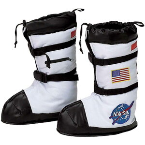 ハロウィン NASA ロゴ入り 宇宙飛行士 ブーツ 子供 キ