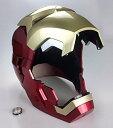 アイアンマン ヘルメット マスク 大人用 レプリカ LEDライトアップ 自動開閉 Gmasking コスプレ 仮装 高級 グッズ