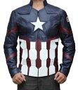 キャプテンアメリカ シビルウォー レザージャケット 大人 メンズ コスプレ 仮装 アメコミ ヒーロー アベンジャーズ キャラクター コスチューム 衣装