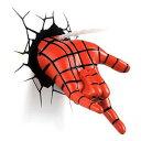 3D 立体 インテリア スパイダーマン 手 ウェブシューター ライトラップ 照明 インテリア マーベル アメコミ 室内 壁 デコレーション グッズ