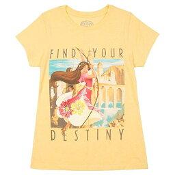 アバローのプリンセス エレナ Tシャツ 黄色 Find Your Destiny 子供 ガールズ 女の子 ディズニー アパレル ファッション