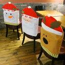 椅子 背もたれ カバー 3点 セット 雪だるま サンタ トナカイ クリスマス お手洗い インテリア パーティ デコレーション 飾り 装飾