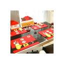 クリスマス 食卓 プレースマット ランチョンマット 4点 セット インテリア パーティ デコレーション 飾り 装飾