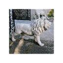 動物 ライオン 1匹 単品 玄関 ゲート アート 彫刻 ホーム インテリア エクステリア 屋外 庭 ガーデン 飾り 石像 オブジ