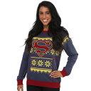 スーパーマン アグリー セーター コスチューム 衣装 アグリーセーター ダサい クリスマス ハロウィン イベント パーティー DCコミックス 大人 レディース
