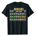 ショッピングテーブル ミニオン tシャツ Periodic Table Of Minions 大人 メンズ グラフィック Tシャツ 怪盗グルーシリーズ 通常便は送料無料