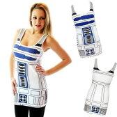ハロウィン スター・ウォーズ R2-D2 大人 女性用 タンクトップ コスチューム 簡単 コスプレ パーティー トップ