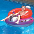 レトロ スタイル UFO フロート 水遊び 水鉄砲 付き 遊具 浮き輪 プール 海