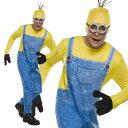 ハロウィン ミニオン コスプレ ケビン 大人 男性用 コスチューム 怪盗グルー 映画 ミニオンズ キャラクター 衣装