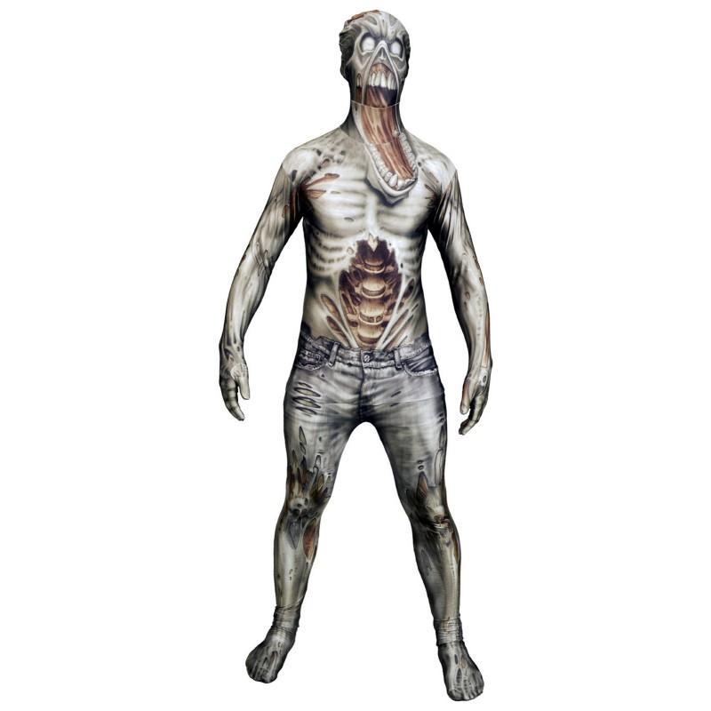 全身 タイツ ゾンビ 大人用 コスチューム モンスター コレクション ハロウィン コスプレ パーティー ボディ スーツ 肝試し