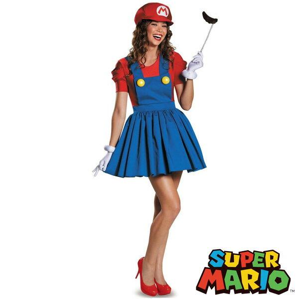 スーパーマリオ ブラザーズ コスチューム 大人 女性用 衣装 仮装 ハロウィン 任天堂