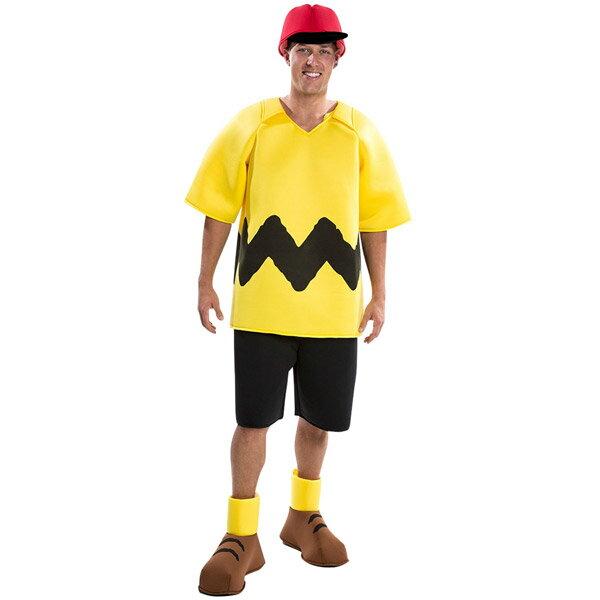 スヌーピー ピーナッツ チャーリーブラウン デラックス コスチューム 男性用 キャラクターグッズ ハロウィン コスプレ衣装