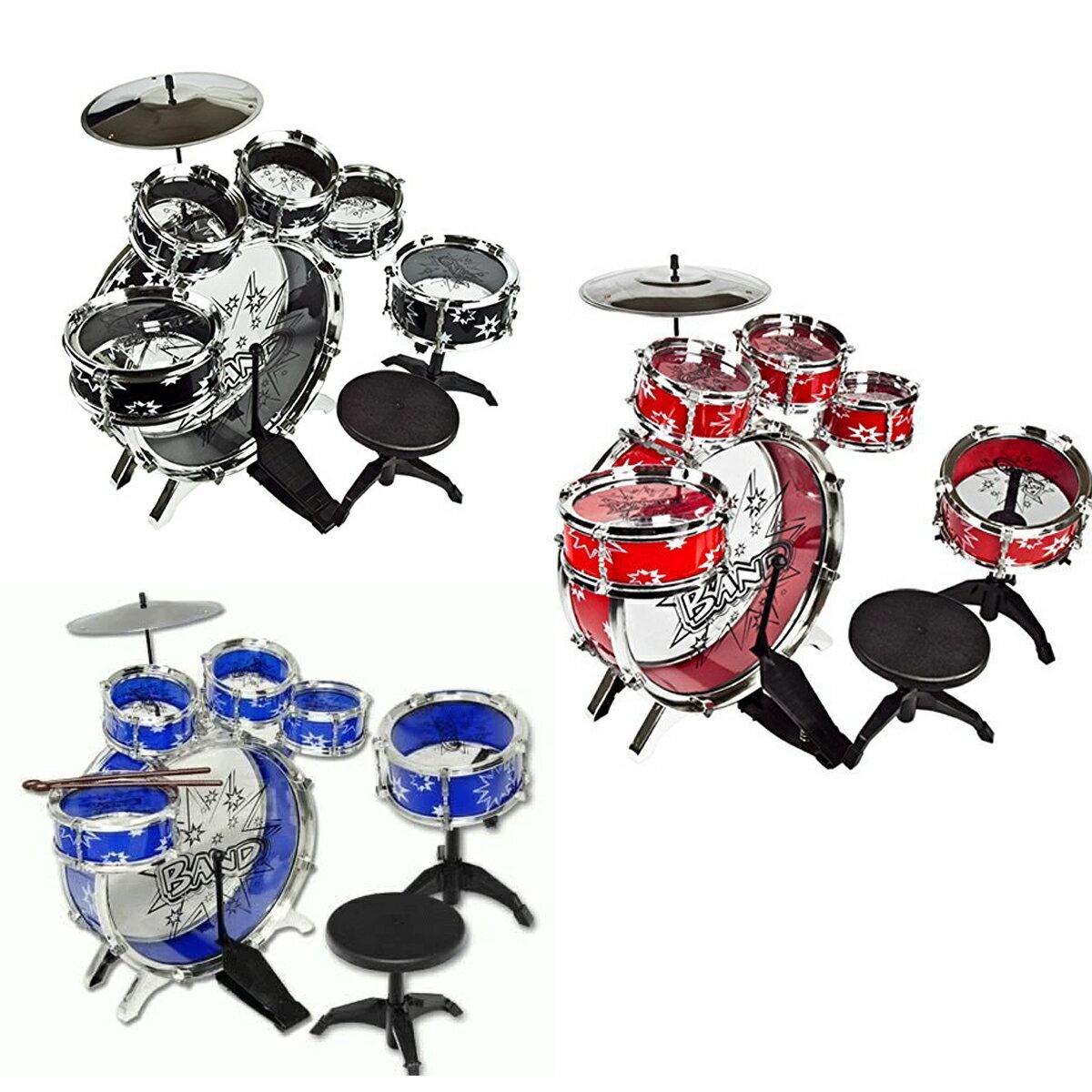 本格派ドラムセット11ピース楽器パーカッション打楽器子供用音楽ロックおもちゃ知育玩具クリスマスプレゼ