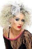 かつら ウィッグ リボン付 レディース 80年代 80's 金髪 ブロンド 歌手 アイドル コスプレ 変装 ポップスター 大人 女性