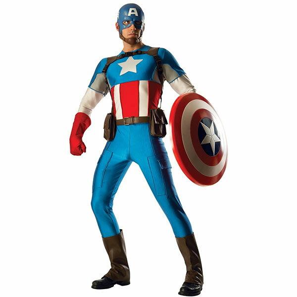 ハロウィン キャプテン・アメリカ 大人 男性用 高級 コスチューム ヒーロー コスプレ アベンジャーズ USA