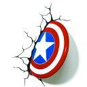 ウォールライト LED 照明 壁ライト 3D 立体 キャプテンアメリカ シールド 盾 マーベル アメコミ スーパーヒーロー ライト インテリア デコレーション グッズ 飾り デコ