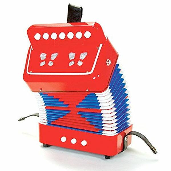 楽器楽器玩具おもちゃアコーディオン本物そっくりコンパクトサイズ知育玩具子供用学校音楽クリスマス誕生日