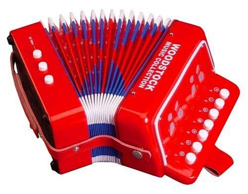 アコーディオン子供楽器2オクターブ赤クリスマスギフトプレゼントミュージックトイ