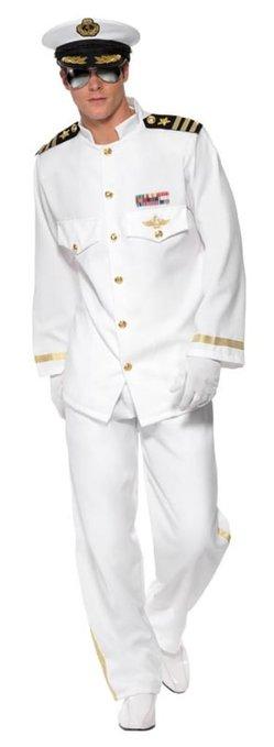 キャプテン 船長 艦長 機長 大人 男性 デラックス コスチューム ハロウィン コスプレ パーティー 劇 舞台:アカムス楽天市場店