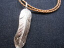 SMART SPICE(スマートスパイス)CARVE FEATHER PENDANT NECKLESS(925シルバー/革ひもネックレス付き...