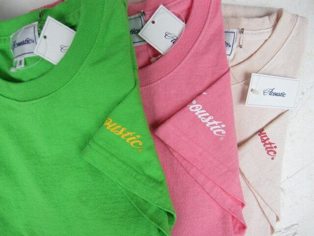 原宿別注限定カラー!ACOUSTIC アコースティックHARAJUKU LIMITED SOLID CREW TEE無地Tシャツ【絶対に首の伸びない丈夫なTシャツ】2016年新作 Tシャツ丈夫 メンズTシャツ レディースTシャツ ユニセックス 大きいサイズあり あす楽対応 10P03Dec16