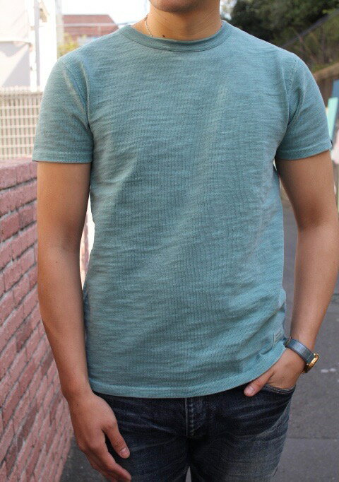 SMART SPICE スマートスパイスPIGMENT DYED SLUB CREW T-SHIRTS【極厚な10番単糸のスラブ生地 頑丈な無地Tシャツ】【自然なヴィンテージ色風合い】丈夫 メンズTシャツ レディースTシャツ ユニセックス 大きなサイズあり送料無料