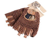 BLB レザーサイクリンググローブ LEATHER CYCLING GLOVES 茶色の画像