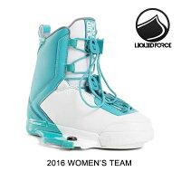 2016 LIQUID FORCE リキッドフォース バインディング WOMENS BINDING TEAM AQUA/WHITE 7-9の画像