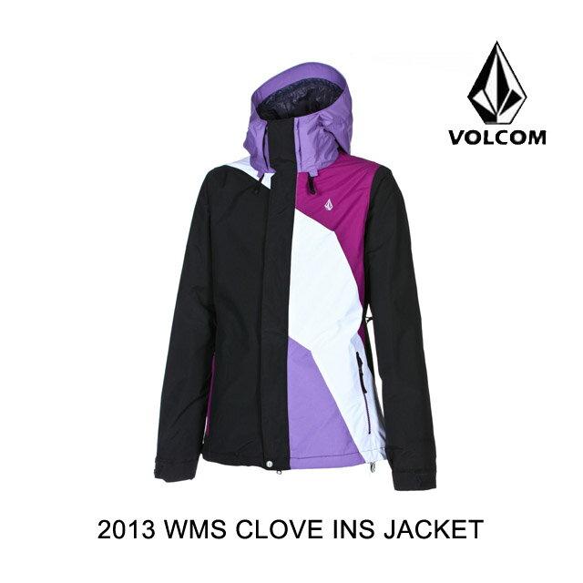 2013 VOLCOM ボルコム ジャケット WOMEN'S CLOVE INSULATED JACKET BLK