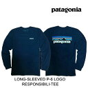 PATAGONIA パタゴニア ロングスリーブ P-6 ロゴ レスポンシビリティー メンズ Tシャツ LONG-SLEEVED P-6 LOGO RESPONSIBILI-TEE CNY CLASSIC NAVY 38518 長袖 L/S TEE