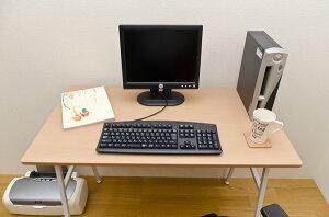 【レビューで送料無料】棚付PCデスク70