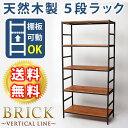 【ポイント10倍】 BRICK(ブリック) 5段タイプ 86×40×175 送料無料 簡単組立 5段 アン