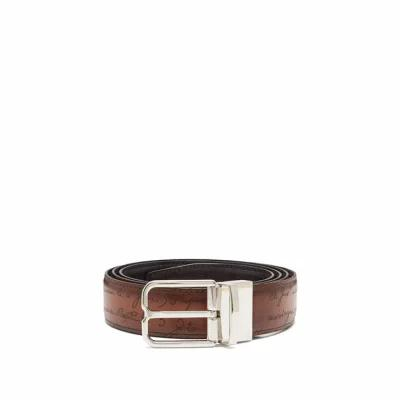 ベルルッティ Berluti ベルト Essence reversible leather belt Brown